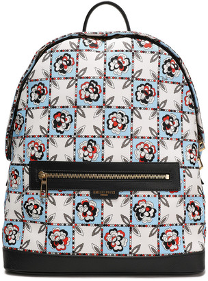 Emilio Pucci Leather-trimmed Checked Twill Backpack
