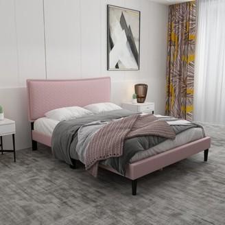 Latitude Run Dajahnay Low Profile Platform Bed Color: Pink, Size: Queen