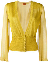 Missoni sheer sleeve buttoned cardigan - women - Viscose/Cupro/Polyester - 40