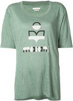 Etoile Isabel Marant logo t-shirt - women - Linen/Flax - M