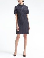 Banana Republic Embellished-Collar Polo Dress