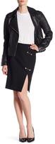 Versace Slit Leg Hardware Skirt