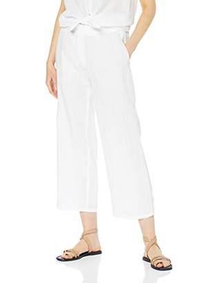 Brax Women's Maine S Linen Leinenhose Uni Verkürzt Mit Schlupfbund Trouser, (White 99), (Size: 46)