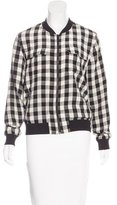 Equipment Silk Gingham Jacket