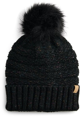 Sonoma Goods For Life Women's Lurex Sequin Knit Beanie with Pom
