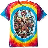 Liquid Blue Men's Grateful Dead Rainbow Bertha Tie Dye Short Sleeve T-Shirt
