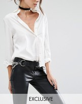 Retro Luxe London Leather Chain Belt