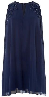 Dorothy Perkins Womens 'Showcase Navy 'Nyla' Trapeze Dress