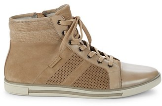 Kenneth Cole New York Initial Move Leather Suede High-Top Sneakers