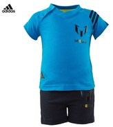 adidas Blue Messi Tee and Shorts Set