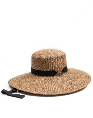 August Hat Grosgrain Ribbon Straw Hat