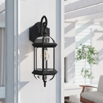 Three Posts Affric 1-Light Outdoor Wall Lantern Fixture Finish: Textured Black