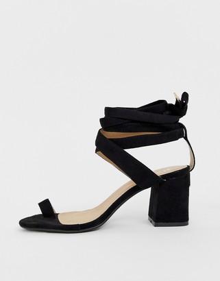 Raid RAID Jazmine black toe loop sandals