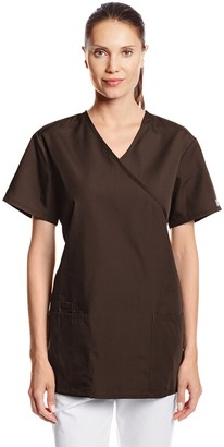 Cherokee Women's Workwear Scrubs Tie Back Mock Wrap Tunic