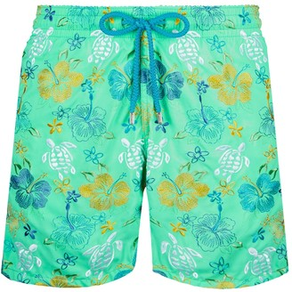 Vilebrequin Tropical Turtles Swim Trunks