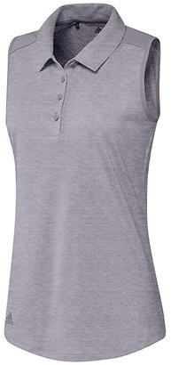 adidas Ultimate365 Sleeveless Polo (Glory Grey Melange) Women's Clothing