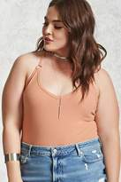 Forever 21 Plus Size Ribbed Cami Bodysuit