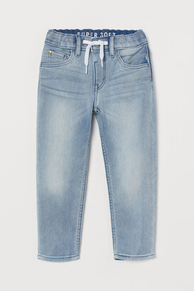 H&M Super Soft Denim Joggers - Blue
