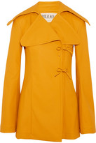 Awake Faux Leather Jacket - Bright yellow