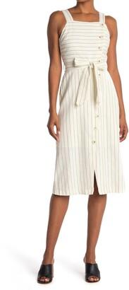 Lost + Wander Paradise Cove Striped Linen Blend Midi Dress