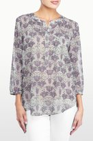 NYDJ Nordic Nouveau Printed 3/4 Sleeve Blouse