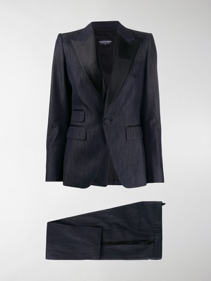 DSQUARED2 Contrast Collar Tailored Suit