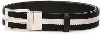 Bally Reversible Striped Belt