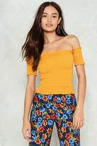 Nasty Gal Knock It Off Shirred Top