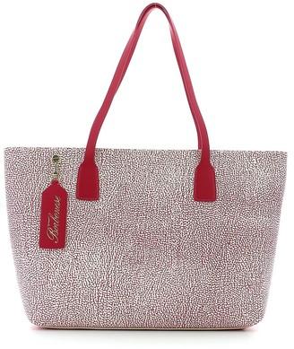 Borbonese Pink Large Graffiti Shopping Bag