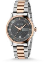 Gucci G-Timeless Stainless Steel & Pink Gold Bracelet Watch