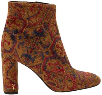 Saint Laurent Brown Cloth Ankle boots