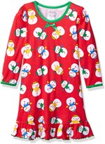 Sara's Prints Little Girls' Whirl and Twirl Long Sleeve Nightgown