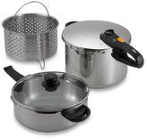 Fagor Duo Combi Pressure Cooker Deluxe Cookware 5-Piece Set