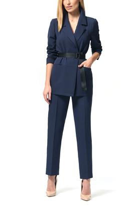 LADA LUCCI Women's Blazers Navy - Navy Open Blazer & Pants - Women & Plus