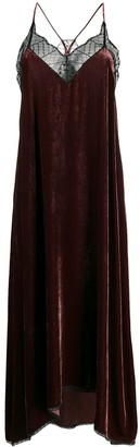 Zadig & Voltaire Asymmetric Flared Midi Dress