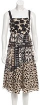Diane von Furstenberg Leaf Printed Midi Dress