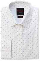 Ben Sherman Burgundy Triple Dotted Stretch Fit Dress Shirt