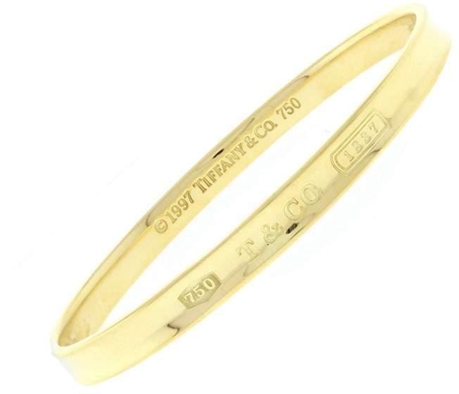 Tiffany & Co. 18k Yellow Gold 1837 Bangle Bracelet