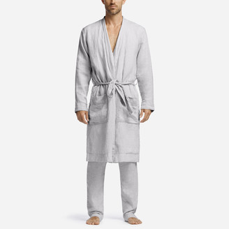 James Perse Jersey Lined Linen Robe