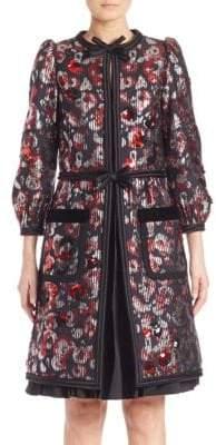 Marc Jacobs Flower Sequin Coat