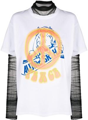 Viktor & Rolf layered Peace Rave T-shirt