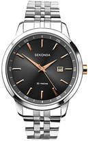 Sekonda 1225.27 Date Bracelet Strap Watch, Silver/black