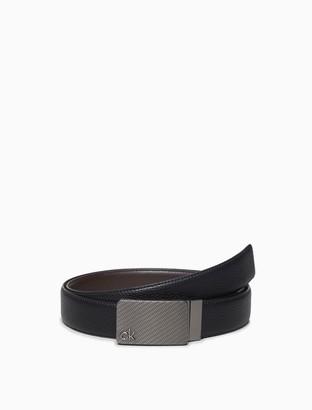 Calvin Klein Pebble Reversible Textured Plaque Belt