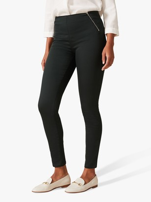 Phase Eight Amina Zip Front Jeggings, Galactic Green
