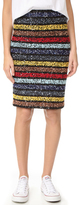 Alice + Olivia Ramos Embellished Fitted Sequin Skirt