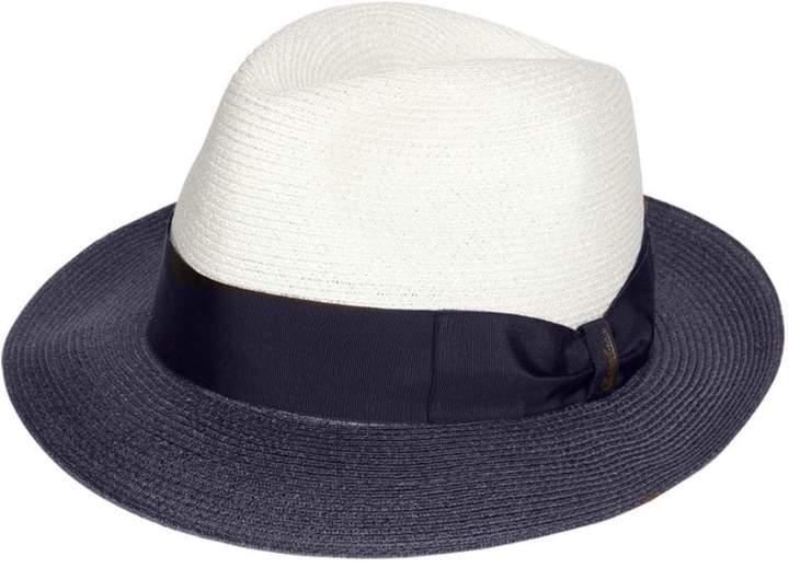 Borsalino Two Tone Medium Brim Hemp Hat