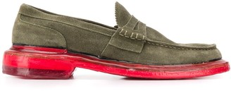 Premiata Contrast-Sole Penny Loafers