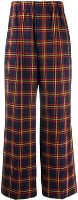 Jejia Flared Plaid Trousers