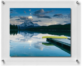 """Wexel Art Double Panel Wall Frame w/ Silver Mounts, 23""""x27"""", For 20""""x24"""" Photos"""
