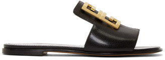 Givenchy Black 4G Flat Mules